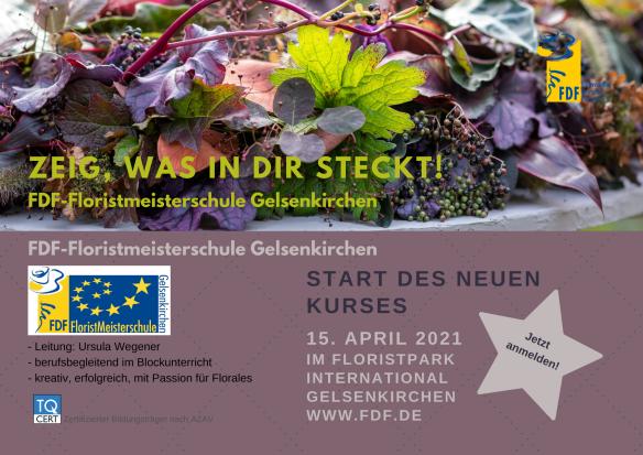 Floristmeisterkurs 2021 Ankündigung